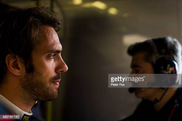 JeanEric Vergne of Toro Rosso and France ahead of the Canadian F1 Grand Prix at Circuit Gilles Villeneuve on June 6 2014 in Montreal Canada