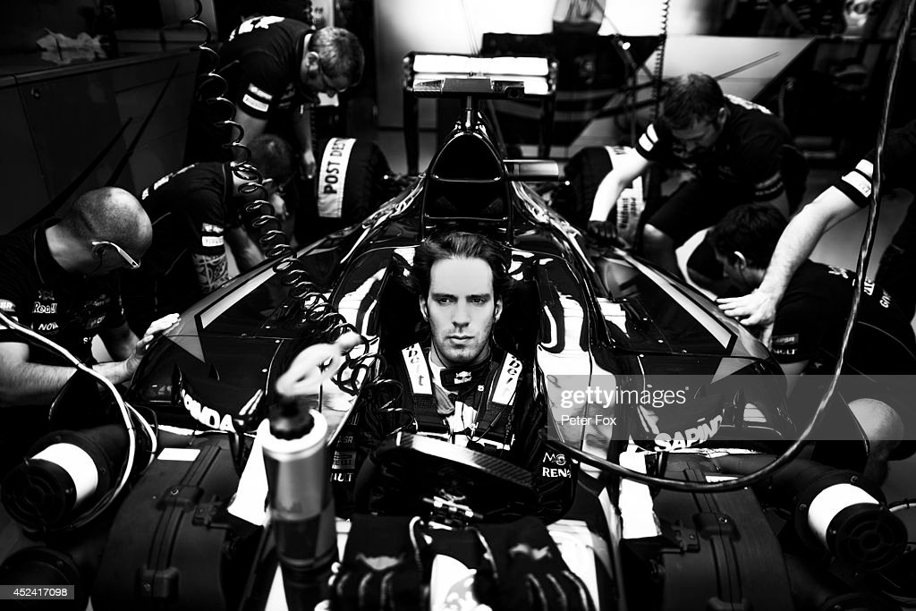 <a gi-track='captionPersonalityLinkClicked' href=/galleries/search?phrase=Jean-Eric+Vergne&family=editorial&specificpeople=7077576 ng-click='$event.stopPropagation()'>Jean-Eric Vergne</a> of Toro Rosso and France ahead of the German F1 Grand Prix at Hockenheimring on July 20, 2014 in Hockenheim, Germany.