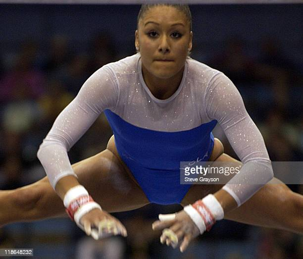 Jeanette Antolin of UCLA in action at the 2004 NCAA Championship Individual Finals at Pauley Pavilion in Westwood California April 17