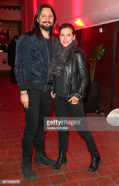 Jeanette Biedermann and her husband Joerg Weisselberg during the Ein Herz Fuer Kinder after show party at Borchardt Restaurant on December 3 2016 in...