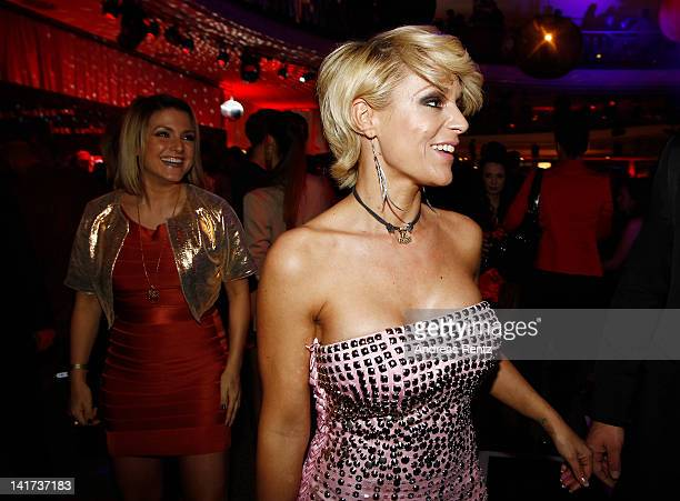 Jeanette Biedermann and Michelle attend the Echo Awards 2012 party at Palais am Funkturm on March 22 2012 in Berlin Germany