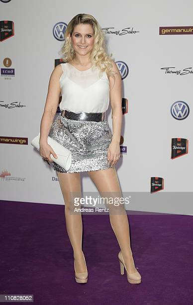Jeanette Biedermann arrives for the Echo award 2011 at Palais am Funkturm on March 24 2011 in Berlin Germany
