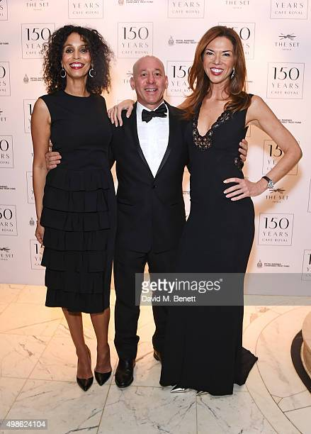 Jeanette Calliva Georgi Akirov and Heather Kerzner attend the Royal Marines Boxing Bout at Cafe Royal in celebration of 150th Anniversary at Cafe...