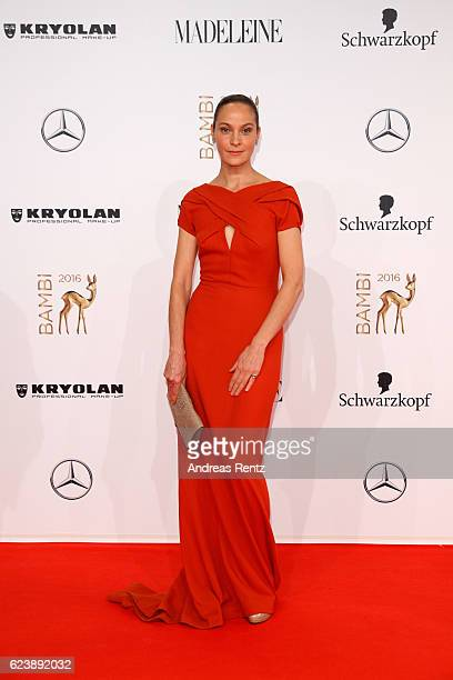 Jeanette Hain arrives at the Bambi Awards 2016 at Stage Theater on November 17 2016 in Berlin Germany