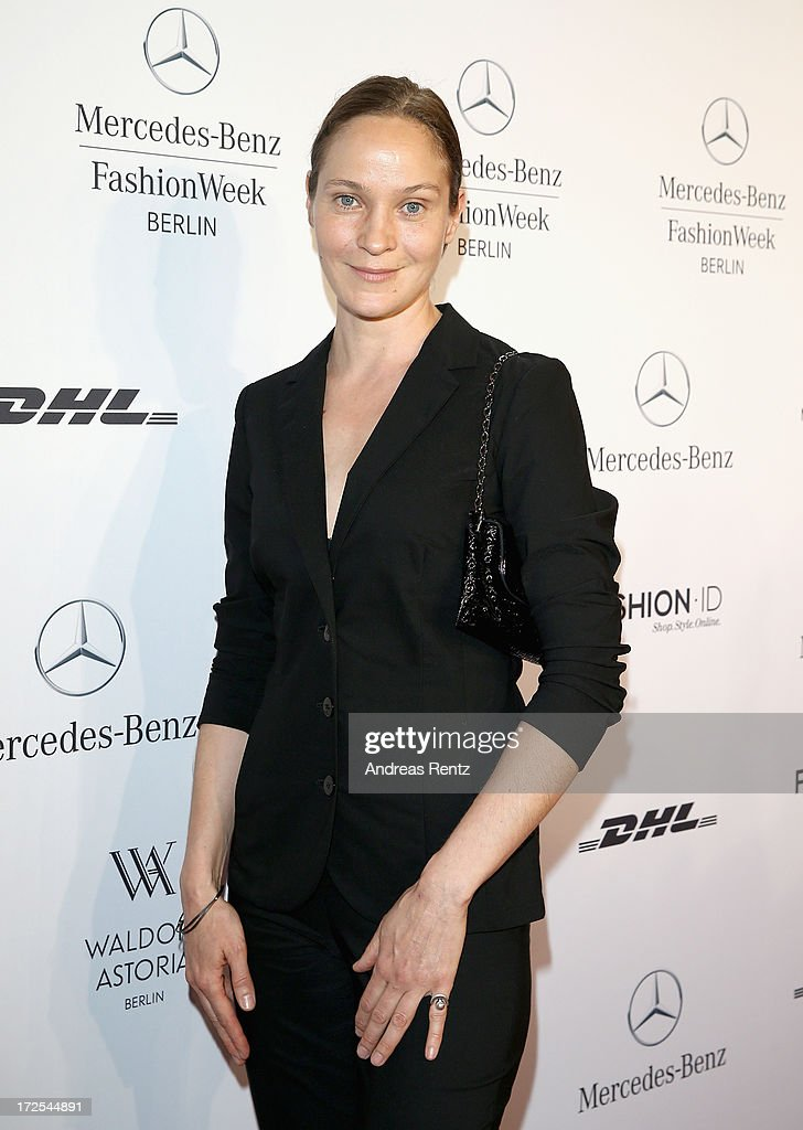 Jeanette Hain attends the Minx By Eva Lutz Show during the Mercedes-Benz Fashion Week Spring/Summer 2014 at the Brandenburg Gate on July 3, 2013 in Berlin, Germany.