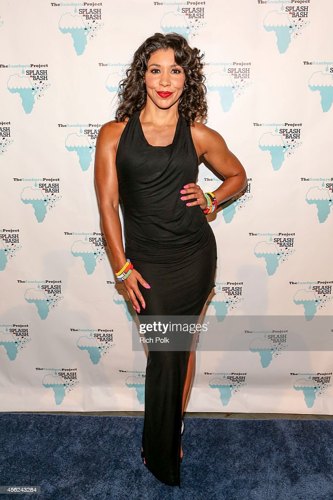 MC Jeanette Jenkins arrives at the Samburu Splash Bash Event on September 27 2014 in Santa Monica California