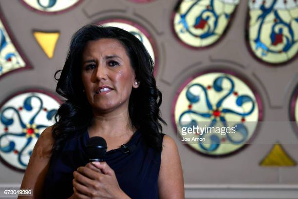 Jeanette Vizguerra a mother of four who is in the US illegally and has taken sanctuary at the First Unitarian Society of Denver couldn't attend the...