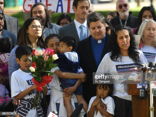 Jeanette Vizguerra a mother of four who is in the US illegally and has taken sanctuary at First Baptist Church of Denver was granted a two year stays...