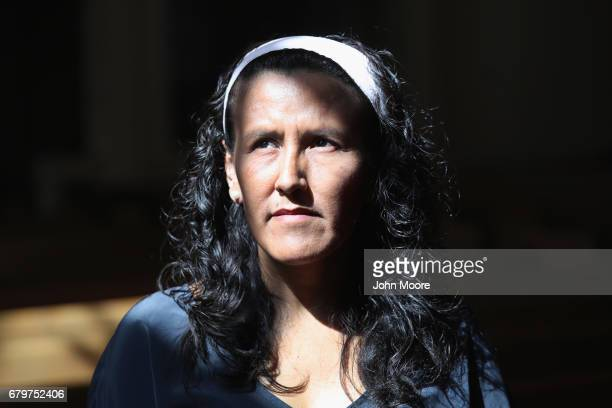 Jeanette Vizguerra takes sanctuary at the First Baptist Church on May 5 2017 in Denver Colorado Vizguerra who has lived in the US for 20 years took...