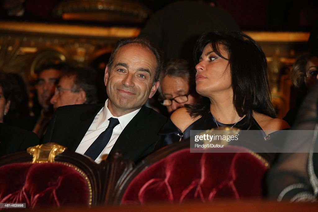 Jean-Francois Cope and guest attend the Pasteur Weizmann Institute 40th anniversary celebration at Opera Farnier in Paris at Opera Garnier on January 12, 2015 in Paris, France.