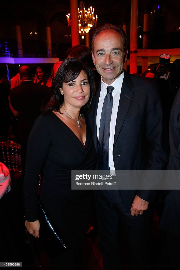 Jean-Francois Cope and his wife Nadia attend the French-American Foundation Gala Dinner at Salle Wagram on November 7, 2014 in Paris, France.