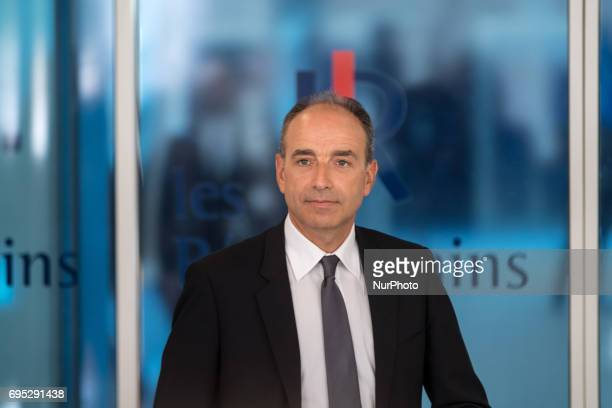 JeanFrancois Cope arrives at the Les Republicains Headquarters for a meeting to think about a new strategy in the second round of the Legislatives...