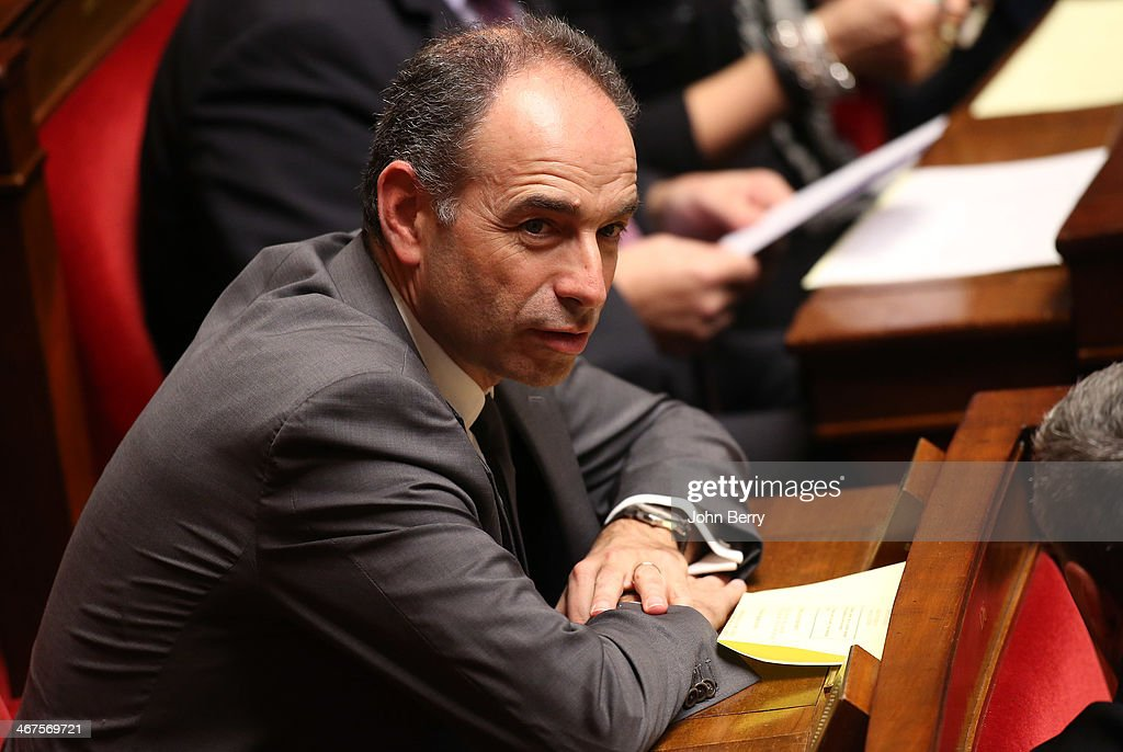 Jean-Francois Cope, president of UMP participates at the Questions to the Government at the french National Assembly on February 4, 2014 in Paris, France.