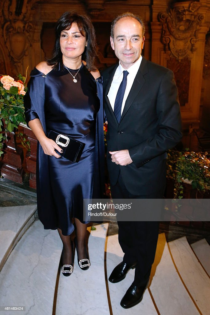 Jean-Francois Cope with his wife Nadia attend Weizmann Institute celebrates its 40 Anniversary at Opera Garnier in Paris on January 12, 2015 in Paris, France.