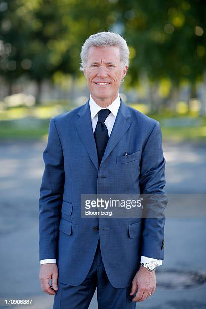 JeanFrancois Decaux cochief executive officer of JCDecaux SA poses for a photograph on the opening day of the St Petersburg International Economic...