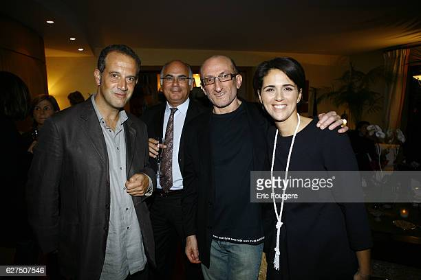JeanFrancois Derec Valerie Benaim and Philippe Dannah attend the launch of Tristan Banon's new book 'Trapeziste'