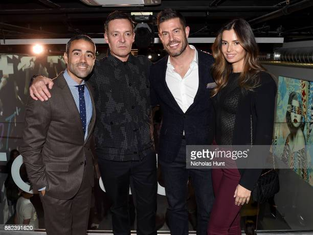 JeanFrancois Sberr Hush Jesse Palmer and Emely Fardo attend as Hublot launches 'Fame v Fortune' Timepieces with Street Artists Tristan Eaton and Hush...