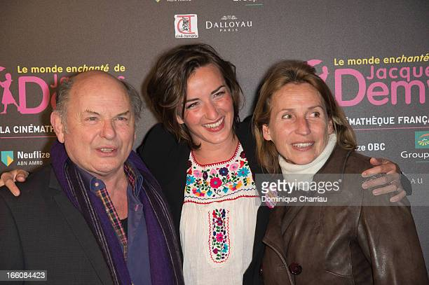 JeanFrancois Stevenin Salome Stevenin and Claire attend the 'Le Monde Enchante De Jacques Demy' Exhibition Opening at la cinematheque on April 8 2013...