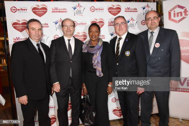 JeanFranois Guihard Jean Raymond Dumas chef Babette des Rosieres Laurent Callu and Alex Harle attend the 'Boeuf A la Mode' Dinner Hosted by Les...