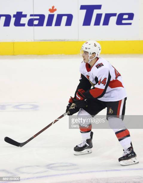 JeanGabriel Pageau of the Ottawa Senators follows the play down the ice during second period action against the Winnipeg Jets at the Bell MTS Place...