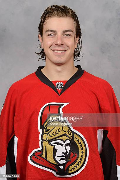 JeanGabriel Pageau of the Ottawa Senators poses for his official headshot for the 20152016 season on September 17 2015 at Canadian Tire Centre in...