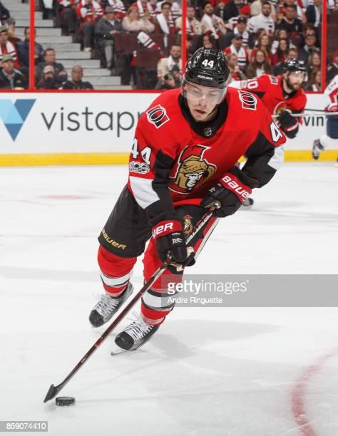 JeanGabriel Pageau of the Ottawa Senators skates against the Washington Capitals at Canadian Tire Centre on October 5 2017 in Ottawa Ontario Canada