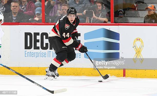 JeanGabriel Pageau of the Ottawa Senators skates against the Vancouver Canucks at Canadian Tire Centre on November 12 2015 in Ottawa Ontario Canada