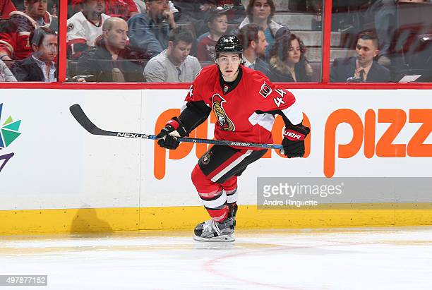 JeanGabriel Pageau of the Ottawa Senators skates against the Detroit Red Wings at Canadian Tire Centre on November 16 2015 in Ottawa Ontario Canada