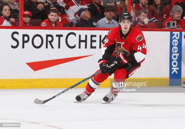 JeanGabriel Pageau of the Ottawa Senators skates against the Montreal Canadiens at Canadian Tire Centre on March 18 2017 in Ottawa Ontario Canada