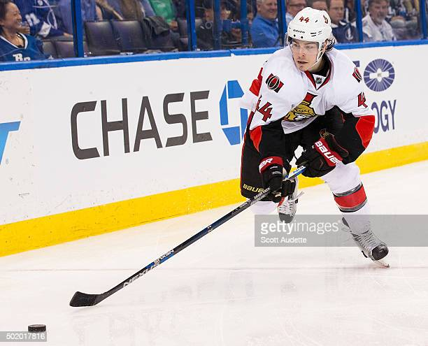 JeanGabriel Pageau of the Ottawa Senators skates against the Tampa Bay Lightning at the Amalie Arena on December 10 2015 in Tampa Florida