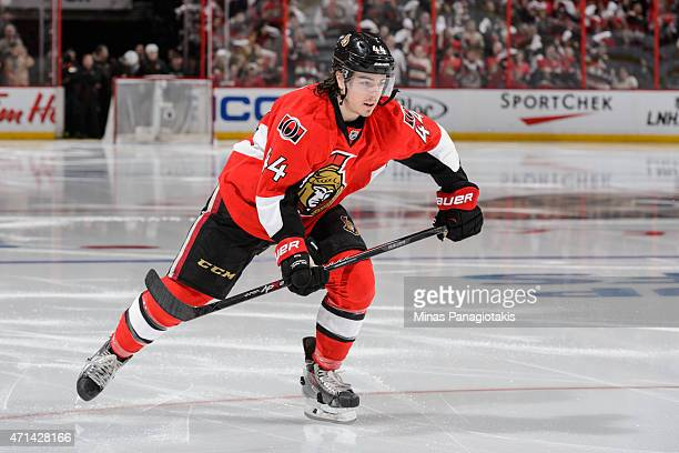 JeanGabriel Pageau of the Ottawa Senators skates in Game Six of the Eastern Conference Quarterfinals during the 2015 NHL Stanley Cup Playoffs at...