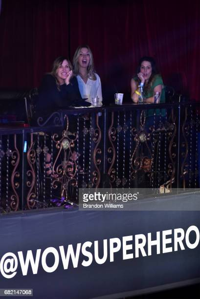 Jeanie Buss and friends enjoy the Women of Wrestling Championship fight at Belasco Theatre on May 11 2017 in Los Angeles California