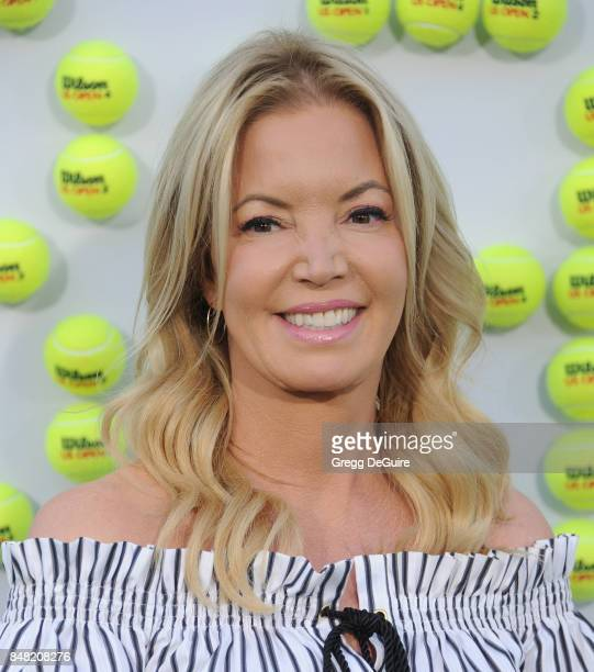 Jeanie Buss arrives at the premiere of Fox Searchlight Pictures' 'Battle Of The Sexes' at Regency Village Theatre on September 16 2017 in Westwood...
