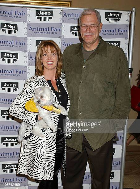 Jeanie Buss Phil Jackson and Princess during The Jeep Yappy Hour and Febreze Pet Fashion Show sponsored by GW Little Arrivals at Century Plaza Hotel...