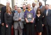 Jeanie Buss Phil Jackson Johnny Grant Eric Garcetti Jerry Buss Tom Arnold Earvin 'Magic' Johnson Kobe Bryant Paula Abdul