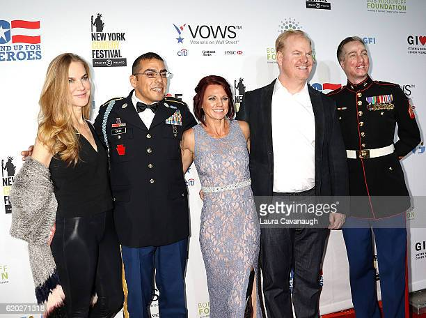 Jeanie Gaffigan Michael Kacer Sarah Rudder Jim Gaffigan and Aaron Mankin attend 10th Annual Stand Up For Heroes Arrivals at The Theater at Madison...