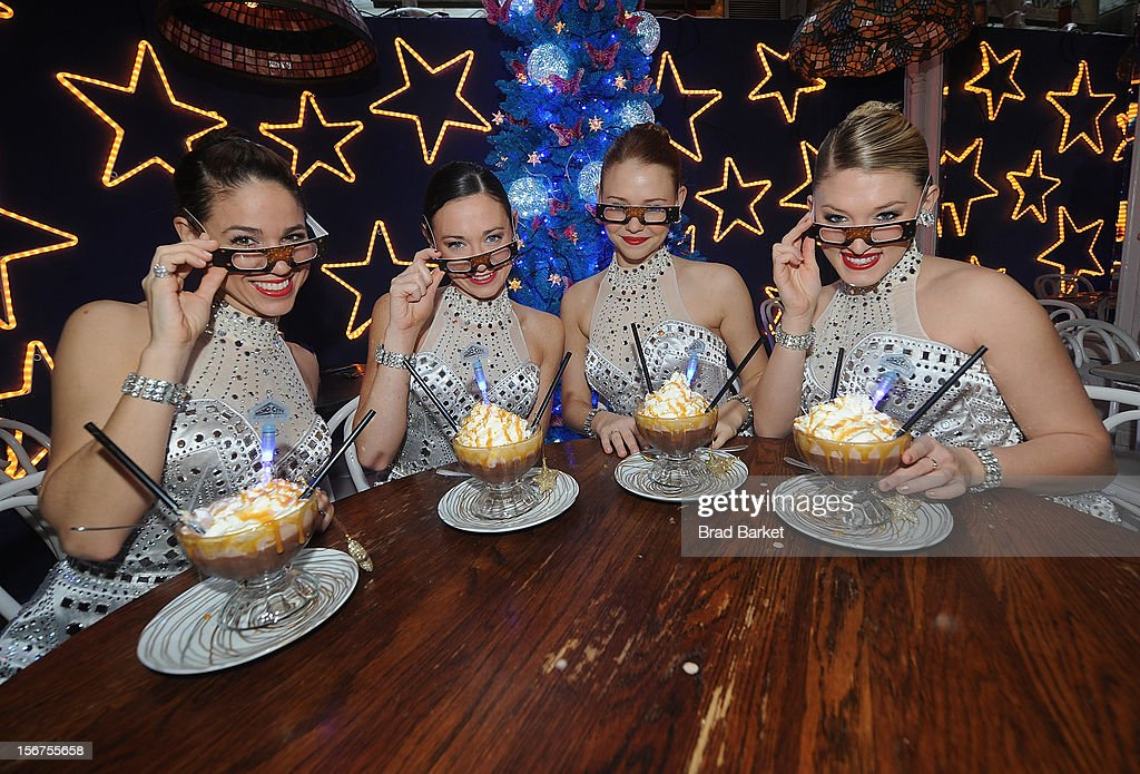 Jeanie Logan, Corrinne Tighe, Brigid Cash, Allie Lehr, member of the The Rockettes attend The Rockettes And Serendipity 3 Holiday Celebration at Serendipity 3 on November 20, 2012 in New York City.