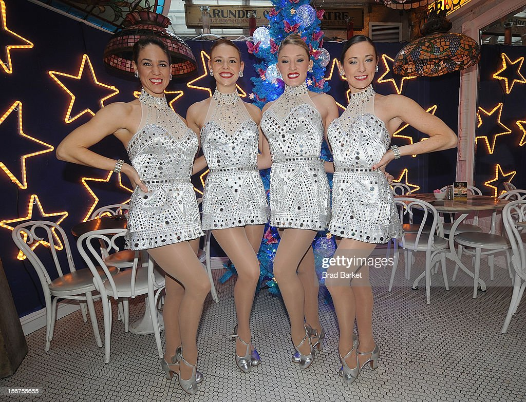 Jeanie Logan, Corrinne Tighe, Brigid Cash, Alliie Lehr, member of the The Rockettes attend The Rockettes And Serendipity 3 Holiday Celebration at Serendipity 3 on November 20, 2012 in New York City.