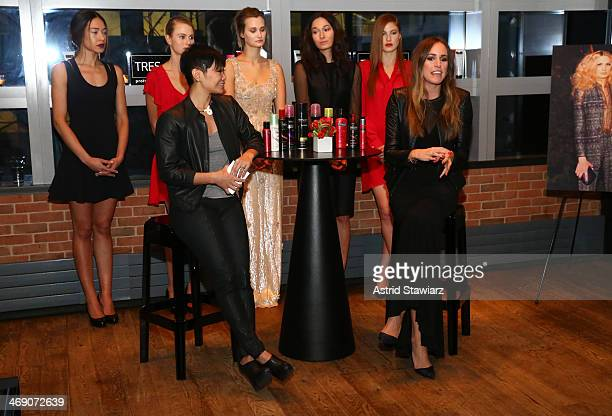 Jeanie Syfu and Louise Roe attend TRESemme Talks Trends With Style Expert Louise Roe And TRESemme Stylists John D And Jeanie Syfu at Landmarc on...