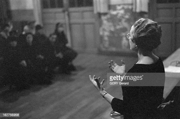 Jeanine Alexandre Debray Candidate At The General Elections France Paris 15 novembre 1958 Lors de l'élection législative partielle du 9ème...