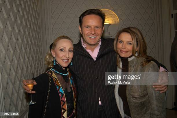 Jeanine Dillon Mark Burnett and Roma Downey attend Kathy and Rick Hilton's party for Donald Trump and 'The Apprentice' at the Hiltons' Home on...
