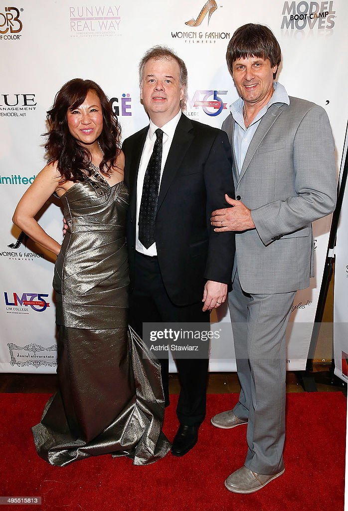 Jeanine Jeo-Hi Kim, Paul Donohue and Paul van Ravenstein attend the 2nd Annual Women & Fashion FilmFest Red Carpet Opening at Gold Bar on June 3, 2014 in New York City.