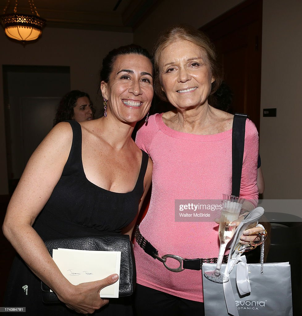 Jeanine Tesori and <a gi-track='captionPersonalityLinkClicked' href=/galleries/search?phrase=Gloria+Steinem&family=editorial&specificpeople=213078 ng-click='$event.stopPropagation()'>Gloria Steinem</a> attend the Opening Night Performance Reception for the Encores! Off-Center Production of 'I'm Getting My Act Together And Taking It On The Road' Opening Night Reception at New York City Center on July 24, 2013 in New York City.