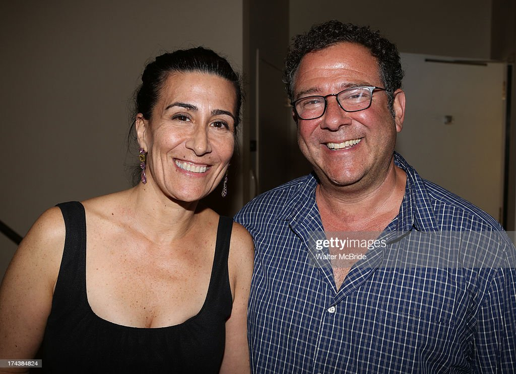 Jeanine Tesori and <a gi-track='captionPersonalityLinkClicked' href=/galleries/search?phrase=Michael+Greif&family=editorial&specificpeople=559034 ng-click='$event.stopPropagation()'>Michael Greif</a> attend the Opening Night Performance Reception for the Encores! Off-Center Production of 'I'm Getting My Act Together And Taking It On The Road' Opening Night Reception at New York City Center on July 24, 2013 in New York City.