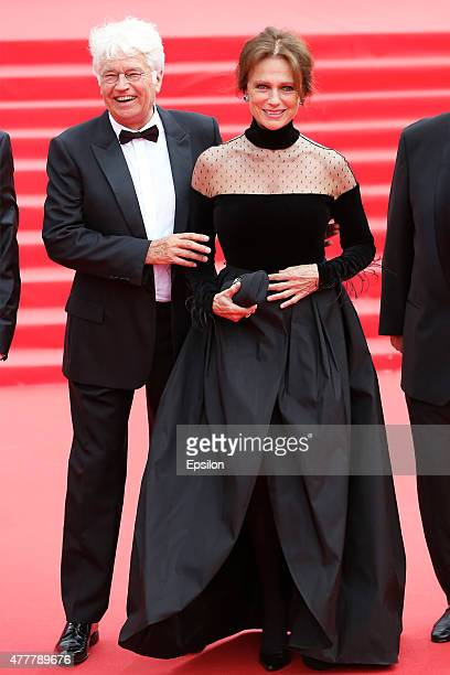 JeanJacques Annaud and Jacqueline Bisset attend the opening ceremony of the Moscow International Film Festival at Pushkinsky Cinema on June 19 2015...