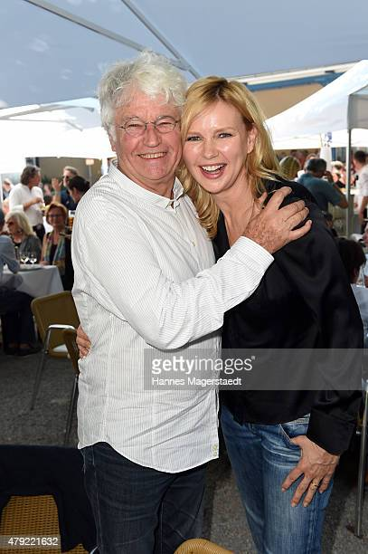 JeanJacques Annaud and Veronica Ferres atten the FFF reception during the Munich Film Festival at Praterinsel on July 2 2015 in Munich Germany