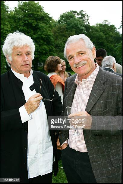 JeanJacques Annaud and Yann Arthus Bertrand at Sean Connery And Micheline Roquebrune 30 Year Anniversary Party At Chateau De Groussay