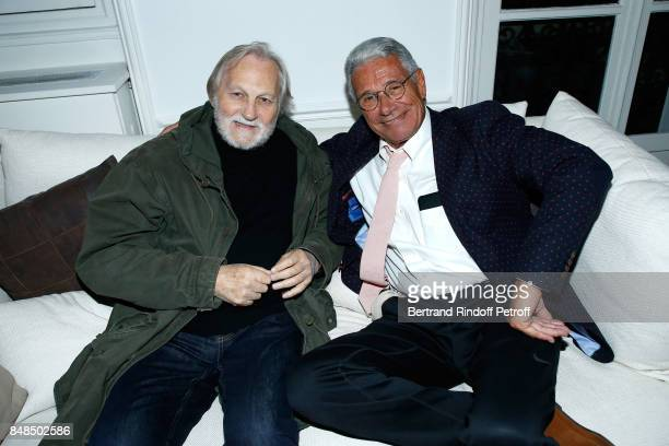 JeanJacques Debout and JeanMarie Perrier attend the Dinner after Sylvie Vartan performed at L'Olympia on September 16 2017 in Paris France