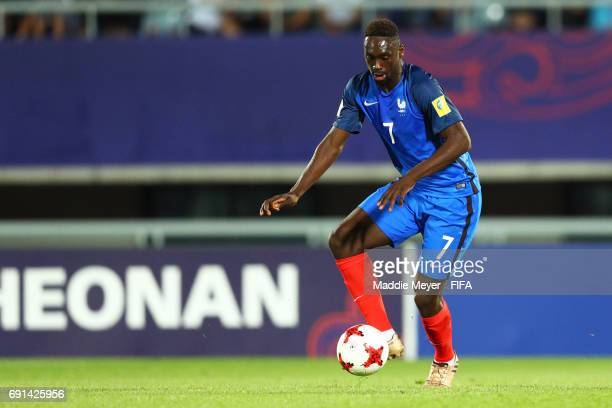 JeanKevin Augustin of France makes a pass during the FIFA U20 World Cup Korea Republic 2017 Round of 16 match between France and Italy at Cheonan...