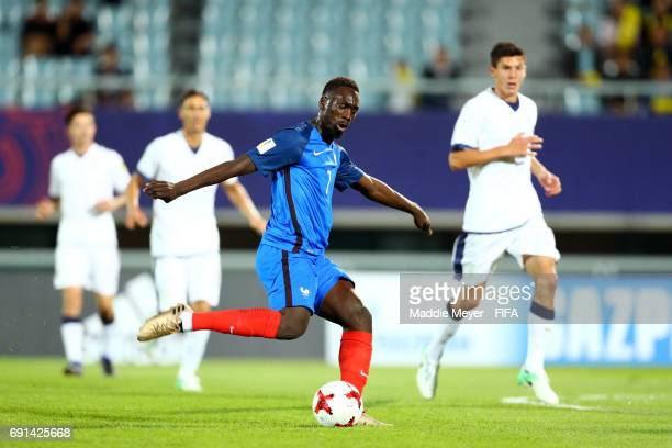 JeanKevin Augustin of France takes a shot on goal during the FIFA U20 World Cup Korea Republic 2017 Round of 16 match between France and Italy at...